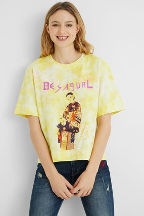 Message illustration short T-shirt