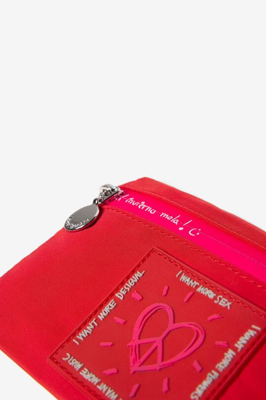 Moneder vermell i fúcsia cremallera | Desigual