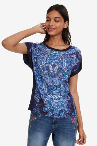 T-shirt met paisley Navajos