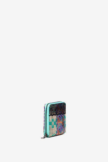 Coin wallet patch animal, raffia and lace | Desigual
