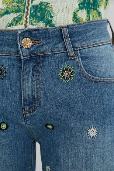 Pantalón vaquero corto mandalas | Desigual