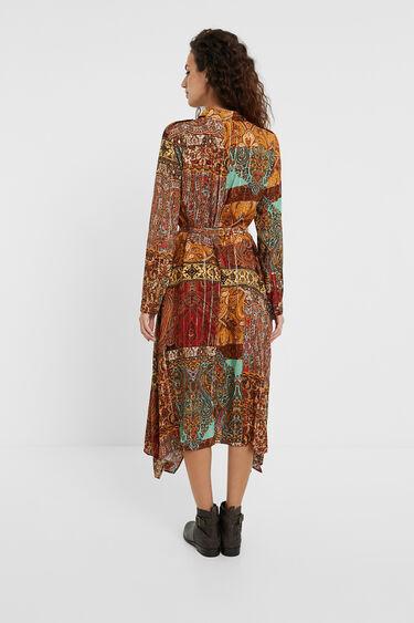Shirt dress metallic print | Desigual