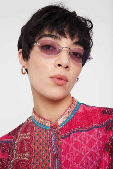 Bluse mit Mao-Kragen Boho-Muster | Desigual