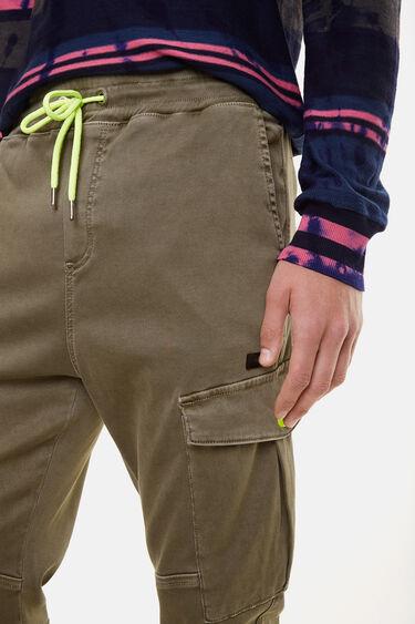 Calças cargo cordão fluorescente | Desigual