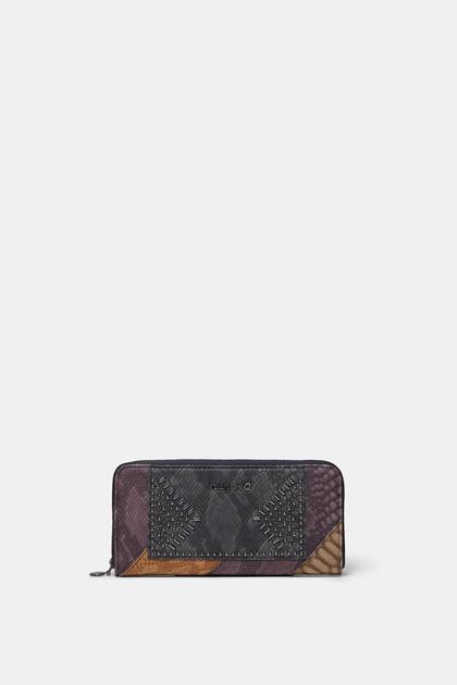 Portefeuille effet cuir texturé