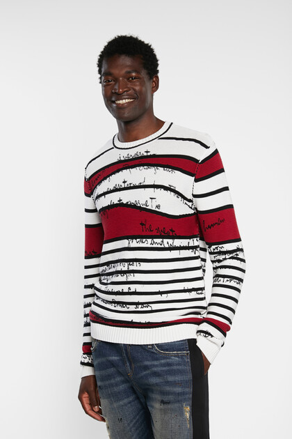 Knit jumper striped