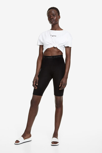 Cycling leggings with stretch waist