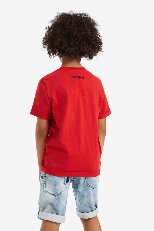 T-shirt korte mouwen en print aan voorkant | Desigual