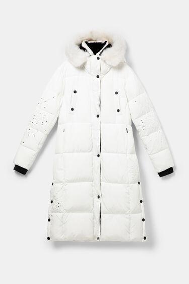 Long straight padded coat mandalas | Desigual