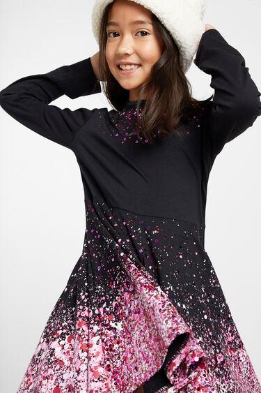 Katoenen jurk met klokkende rok | Desigual