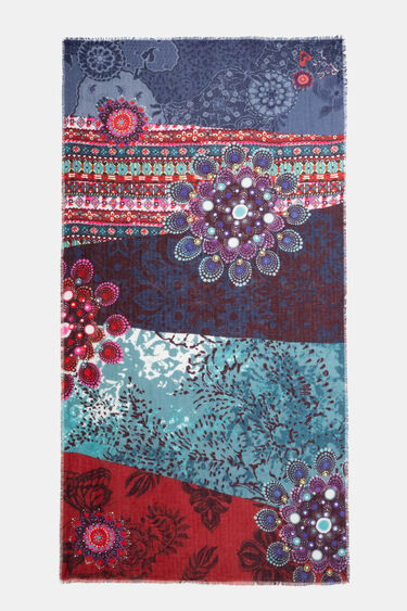 Rectangular print foulard | Desigual