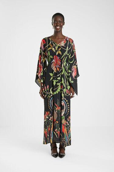 Long loose 3/4 wide sleeve dress | Desigual