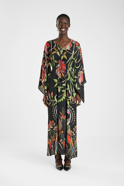 Robe longue loose manches larges 3/4