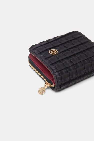 Texturized square coin purse | Desigual
