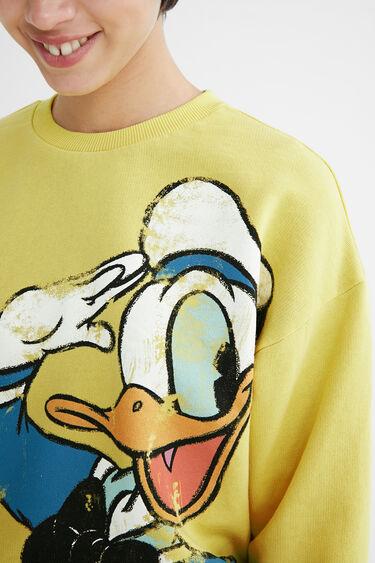 Sweater Illustration ausgefranster Saum | Desigual