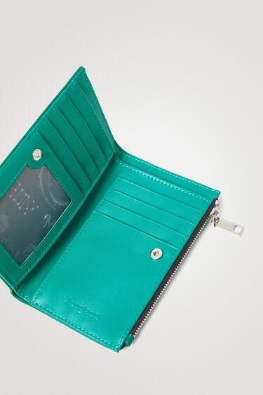 Langwerpige portemonnee met logo   Desigual