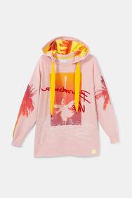Lang oversized Hawaïaans sweatshirt | Desigual
