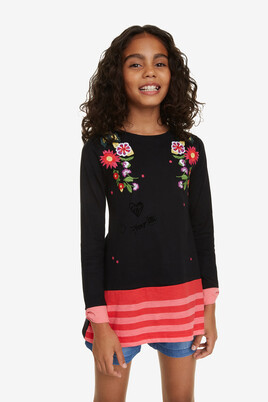 Stripes and Flowers T-shirt Flowers
