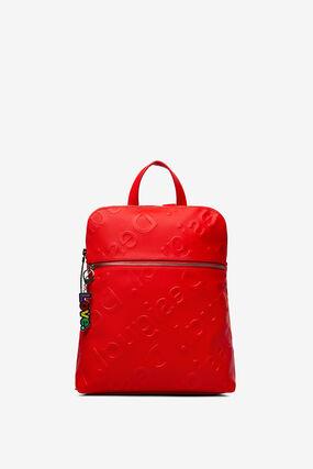 Backpack logo in relief