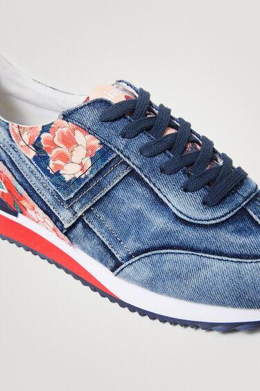 Runner sneakers met denim patch | Desigual