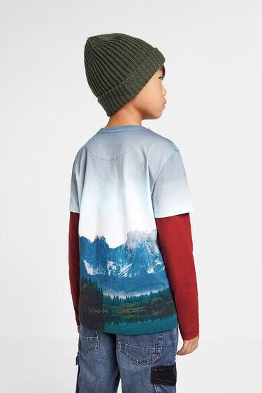 Double sleeve mountain T-shirt | Desigual