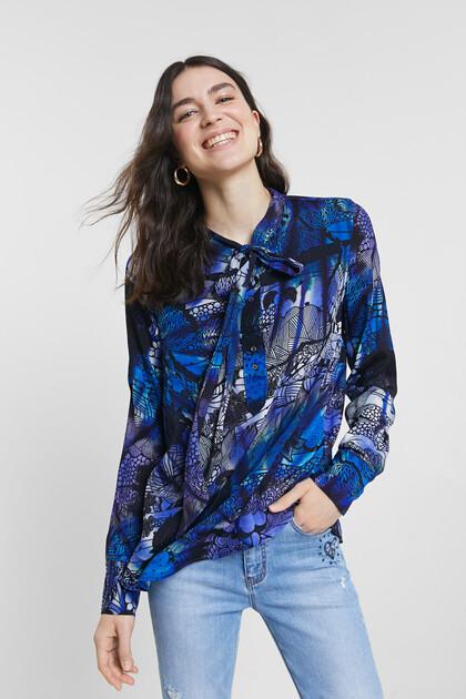 Galactic mandala print blouse