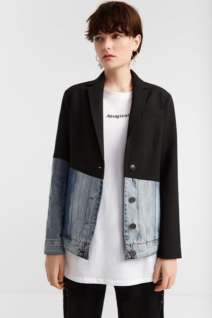 Hybrid jacket blazer and denim