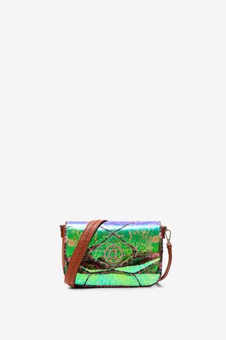 Kaleidoscopic bag with flap