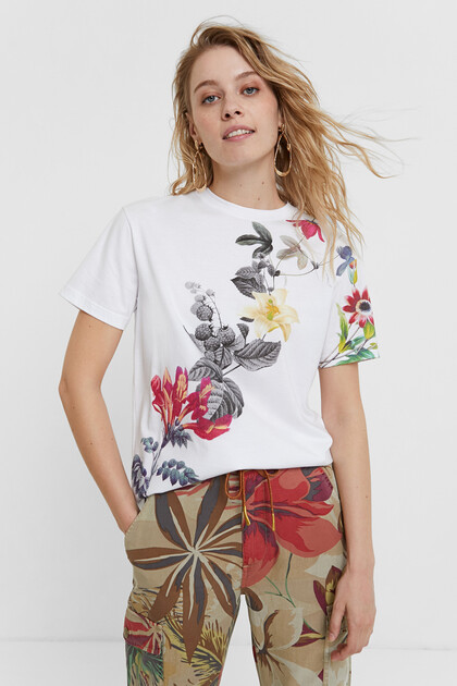 100% cotton floral T-shirt