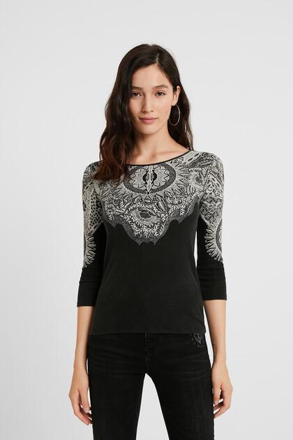 Shirt im Slim Fit mit Mandalas