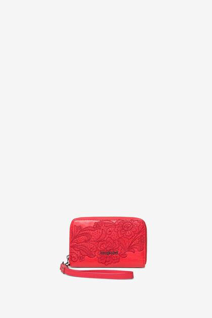 Floral coin purse zipper