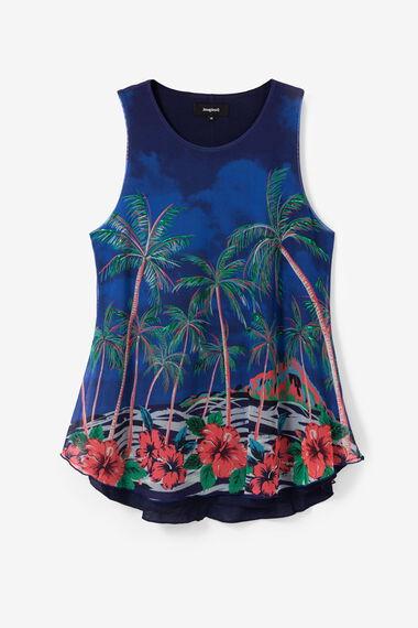 Floral multilayer T-shirt
