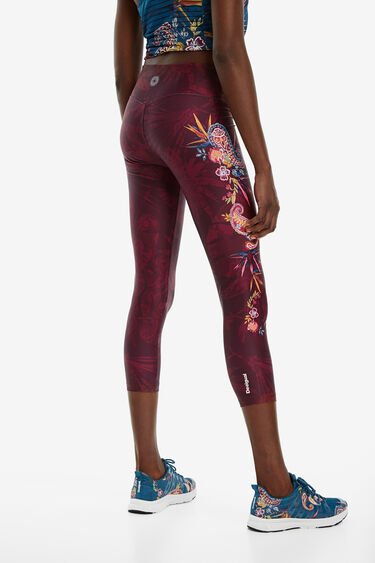 Leggings patch floral lateral | Desigual