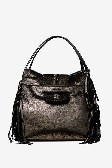 Shoulder bag with fringe | Desigual