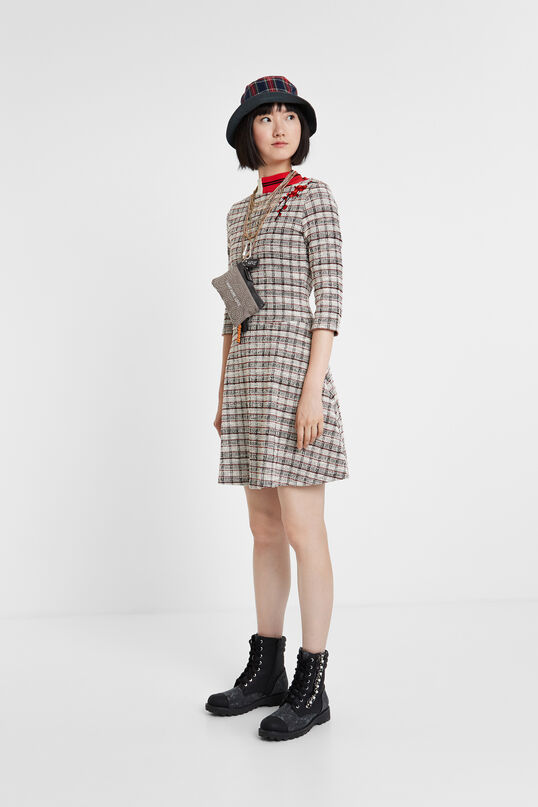 Flared checked dress | Desigual