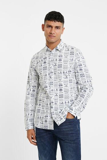 Slim shirt drawings | Desigual