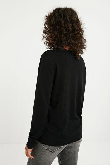 Jersey corto tricot bordado hombros | Desigual