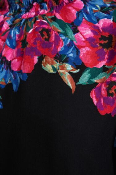 Blouse loose empiècement floral | Desigual