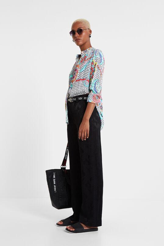 Mandarin Collar Print Shirt Aisha   Desigual