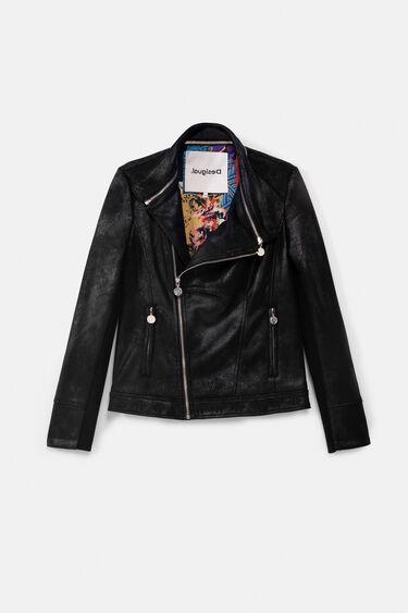 Slim biker jacket embroideries   Desigual