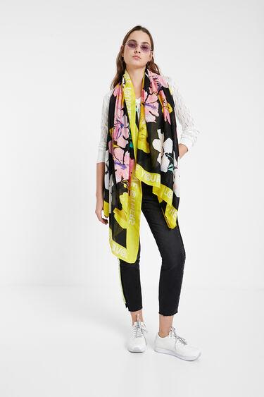 Floral foulard of hibiscus | Desigual
