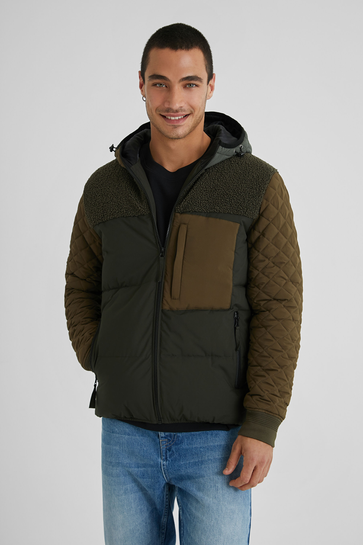 Short padded jacket - GREEN - XL