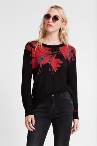 Viscose floral sweater