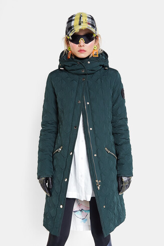 Padded coat hood