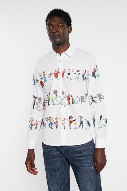 Arty slim shirt 100% cotton