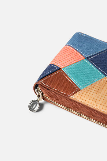 Suede and patch coin purse | Desigual