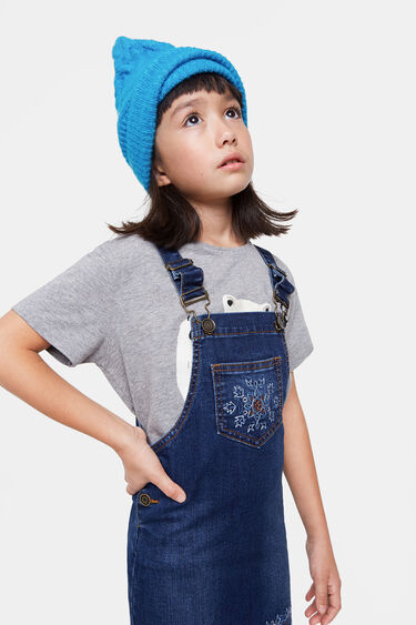 Embroidered denim overalls | Desigual