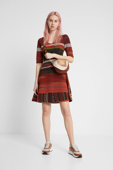 Boho striped dress | Desigual