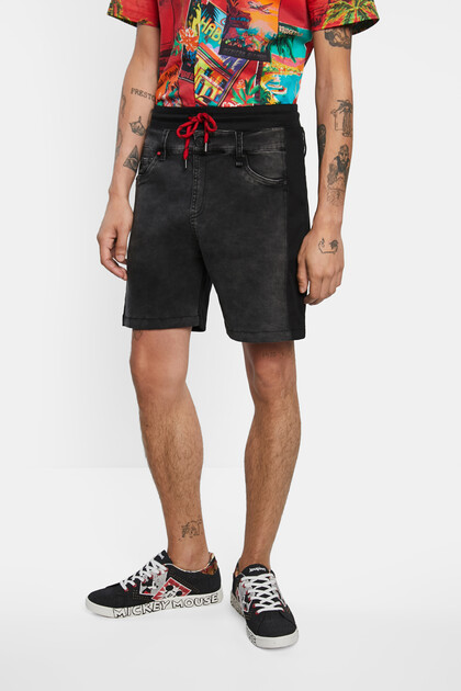Short trousers plush denim