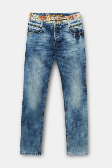 Regular denim trousers | Desigual